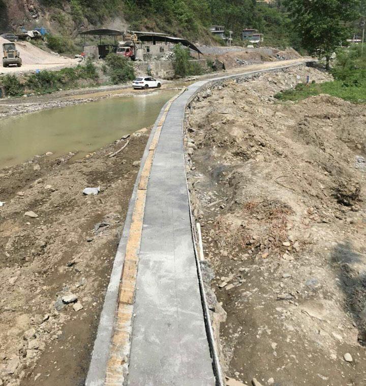 印江县罗场乡2018年两河村坪凳防洪堤工程